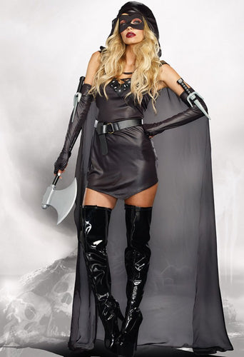 DG9873 Sexy The Assassin Fancy Dress Costume-Costume-Dreamgirl-Small-Miss Hollywood Sexy Shoes