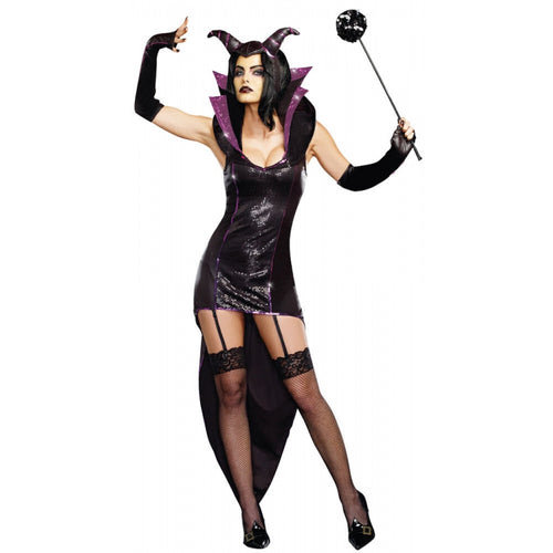 DG9475 Queen of Darkness Dreamgirl Costume-Costume-Dreamgirl-Small-Miss Hollywood Sexy Shoes