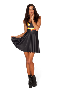 BM401 Sexy Mini Dress with Pumpkin Halloween Style - Miss Hollywood - 2