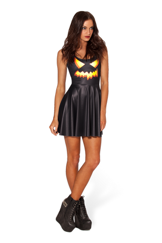 BM401 Sexy Mini Dress with Pumpkin Halloween Style - Miss Hollywood - 1
