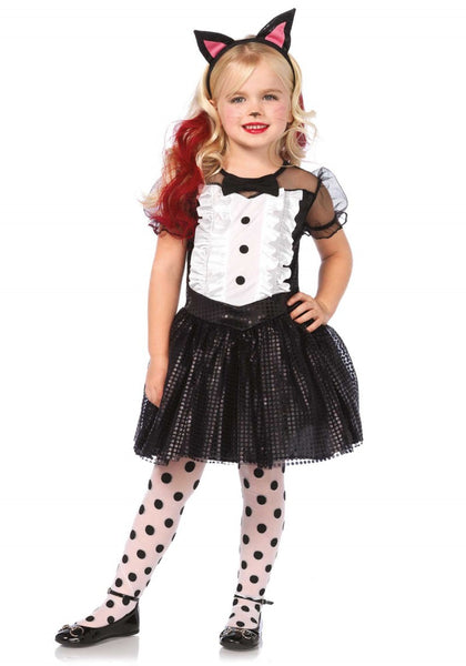 LAC48146 Tuxedo Kitty Fancy Dress Costume - Miss Hollywood