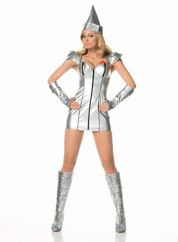 LA83182 Sexy Tin Girl Fancy Dress Costume - Miss Hollywood - 1