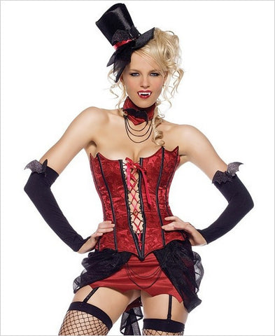 LA83425 Sexy Love Bite Vampire Fancy Dress Costume - Miss Hollywood - 1