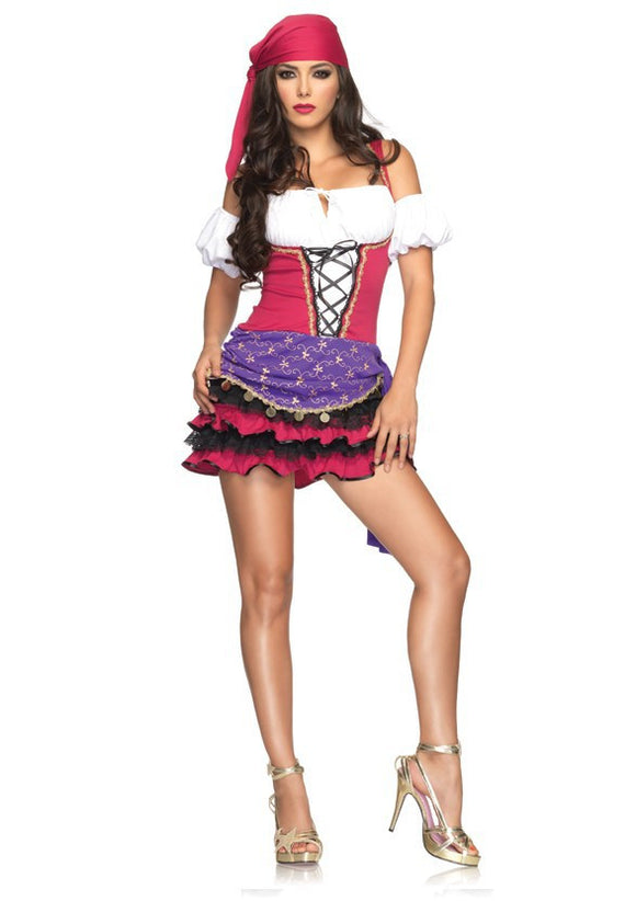 LA83671 Sexy Leg Avenue Crystal Ball Gypsy Fancy Dress Costume - Miss Hollywood