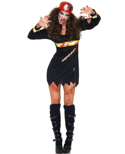 LA83973 Undead Fire Starter Fancy Dress Costume-Costume-Leg Avenue-S/M-Miss Hollywood Sexy Shoes
