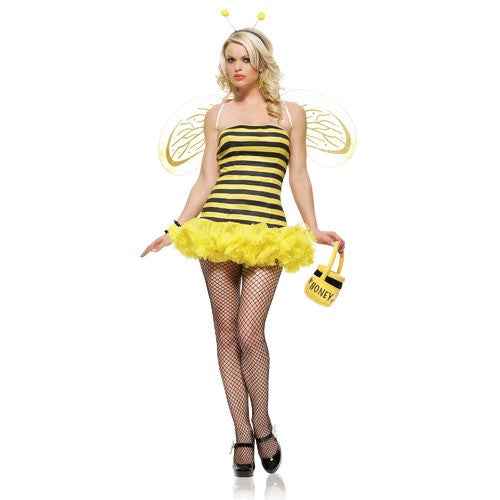 LA8412 Sexy Honey Bee Fancy Dress Costume - Miss Hollywood - 2