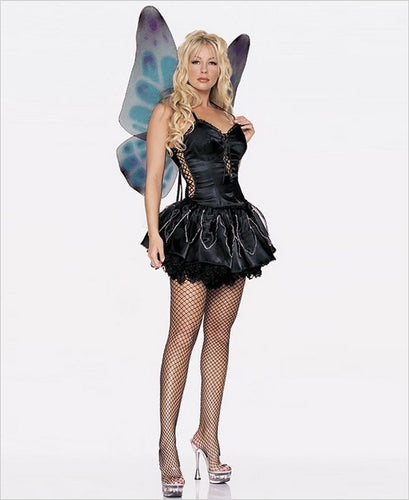 LA8945 Gothic Pixie Fancy Dress Costume - Miss Hollywood