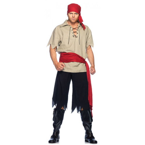LA83648 Cutthroat Pirate Fancy Dress Costume-Costume-Leg Avenue-XL-Miss Hollywood Sexy Shoes