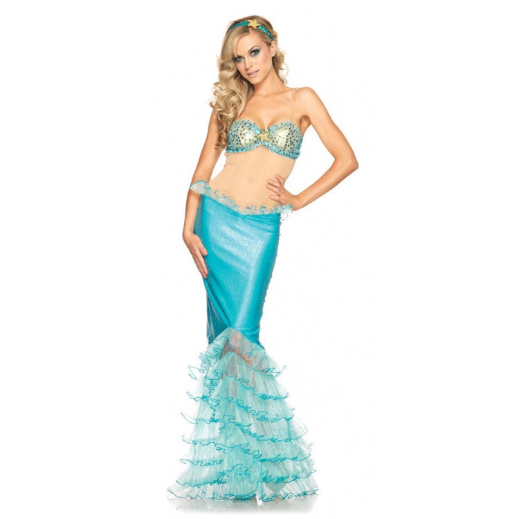 LA83932 Sexy Mystical Mermaid Fancy Dress Costume-Costume-Leg Avenue-XS-Miss Hollywood Sexy Shoes