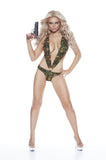 NLA1 Sexy Camoflage Romper Set Cut Out Lycra Swimwear - Miss Hollywood - 1