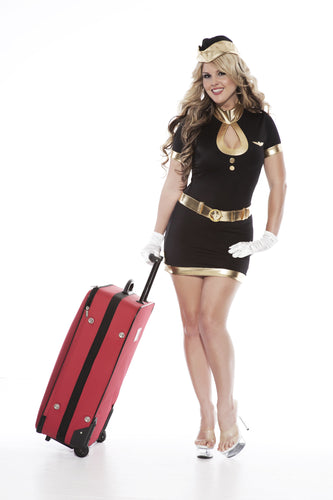 NLA33 Sexy Airhostess Sale Fancy Dress Costume-Costume-Miss Hollywood-S/M-Miss Hollywood Sexy Shoes