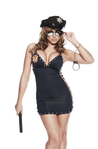 NLA37 Sexy Cop Sale Fancy Dress Costume-Costume-Miss Hollywood-S/M-Miss Hollywood Sexy Shoes