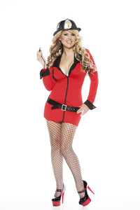 NLA39 Sexy Firewoman Sale Fancy Dress Costume-Costume-Miss Hollywood-S/M-Miss Hollywood Sexy Shoes