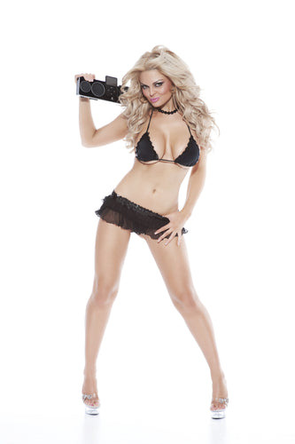 Sexy Lingerie Pole Dancing Strippers Outfit-Fetish Style Lingerie-Nitelife-Black-One Size-Miss Hollywood Sexy Shoes
