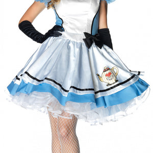 LA83802 Sexy Tea Time Alice Fancy Dress Costume - Miss Hollywood - 2
