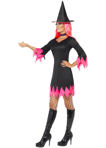 SM30880 Halloween Witch Fancy Dress Costume-Costume-Smiffys-Small-Miss Hollywood Sexy Shoes