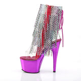 ADORE-1017RSF Pleaser Sexy Bling Boots 7 Inch Heel with Platforms Open Toe/Back Ankle Boots