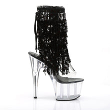 Load image into Gallery viewer, Sexy ADORE-1017SQF Pleaser Sexy Sequin Boots 7 Inch Heel with Platforms Open Toe/Back Ankle Boots  Pleaser - Miss Hollywood - Sexy Shoes