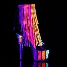 Load image into Gallery viewer, ADORE-1017SRS Pleaser Sexy Bling Boots 7 Inch Heel with Platforms Open Toe/Back Ankle Boots