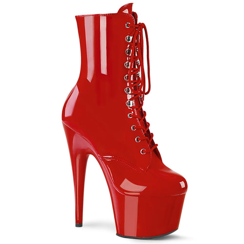 ADORE-1020 Pleaser 7 Inch Heel Red Exotic Dancing Ankle Boot-Pleaser- Sexy Shoes