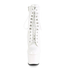 "Load image into Gallery viewer, ADORE-1020 7"" Heel White Patent Exotic Dancing Ankle Boots"