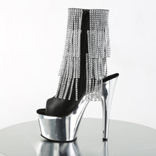 Load image into Gallery viewer, Sexy ADORE-1024RSF Sexy Ankle Boots with Peep Toes & Fringes by Pleaser Shoes  Pleaser - Miss Hollywood - Sexy Shoes