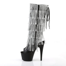 Load image into Gallery viewer, ADORE-2024RSF Pleaser Sexy 7 Inch Heel Open Toe/Back Fringed Knee High Boots