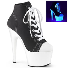 Load image into Gallery viewer, ADORE-700SK-02 Sexy Pleaser Shoes High Heels UV Neon Baseball Style Stripper Shoes for Strippers