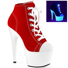 Load image into Gallery viewer, ADORE-700SK-02 Sexy Pleaser Shoes High Heels UV Neon Baseball Style Stripper Pole Dancer Shoes