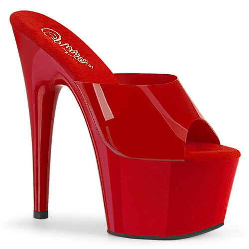 ADORE-701N Pleaser 7 Inch Heel Red Pole Dancing Shoes
