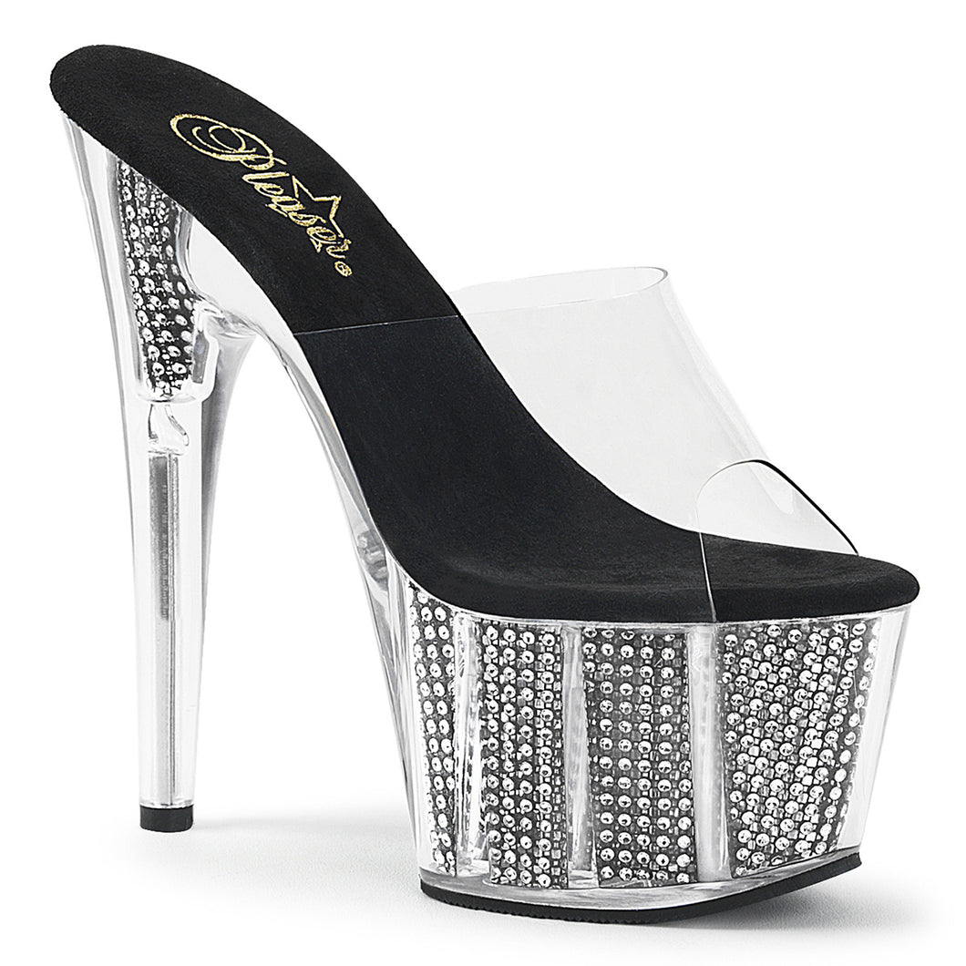 ADORE-701SRS Sexy Pleaser Shoes Bling Rhinestone Filled Platform High Heels - Sexy Shoes