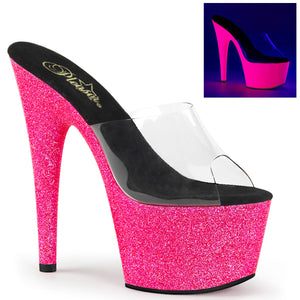 ADORE-701UVG Sexy UV Glitter Neon Pole Dancing Platform Shoes (New Style) - Pleaser Shoes UK Supplier