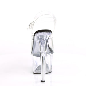 "ADORE-708 Pleaser 7"" Heel Clear and Black Pole Dancing Shoes-Pleaser- Sexy Shoes Fetish Footwear"