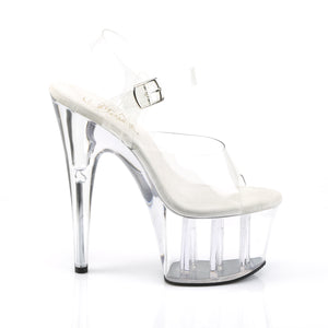 Sexy ADORE-708 Pleaser Clear Sexy Shoes 7 Inch Stiletto Heel Platforms with Ankle Straps  Pleaser - Miss Hollywood - Sexy Shoes