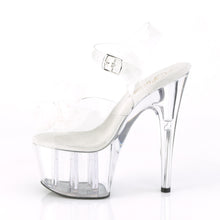 Load image into Gallery viewer, ADORE-708BFL 7 Inch Heel Clear and White Pole Dancing Shoes