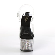 Load image into Gallery viewer, ADORE-708CG Clear Silver Confetti Glitter Stripper Sexy Shoes