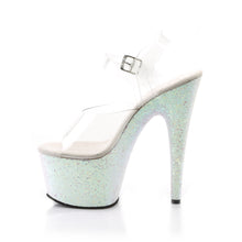 "Load image into Gallery viewer, ADORE-708LG 7"" Heel Clear Opal Glitter Sexy Sandals"