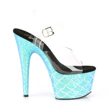 "Load image into Gallery viewer, ADORE-708MSLG Sexy 7"" Heel Clear Aqua Dancing Shoes"