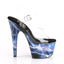 "Load image into Gallery viewer, ADORE-708STORM 7"" Clear and Pink Hologram Pole Dancer Shoes"