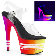 Load image into Gallery viewer, Sexy ADORE-708UVLN Sexy Pleaser Shoes Neon UV Lined Platform High Heels  Pleaser - Miss Hollywood - Sexy Shoes