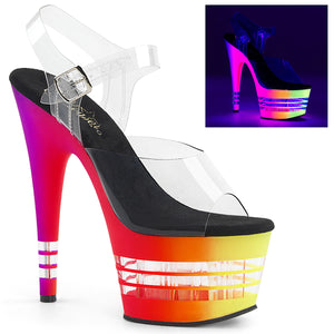 Sexy ADORE-708UVLN Sexy Pleaser Shoes Neon UV Lined Platform High Heels  Pleaser - Miss Hollywood - Sexy Shoes