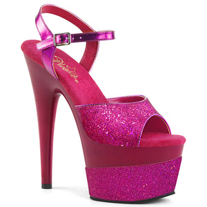 ADORE-709-2G Pleaser Sexy Shoes 7 Inch Ankle Strap Pole Dancing Sandals for Stripping