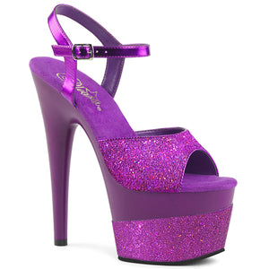 ADORE-709-2G Pleaser Sexy Shoes 7 Inch Stiletto Heel Ankle Strap Glitter Wrapped Platforms Sandals for Stripping