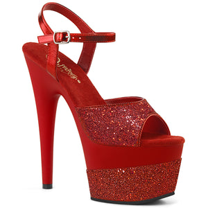 ADORE-709-2G Pleaser Sexy Shoes 7 Inch Stiletto Heel Ankle Strap Glitter Fetish Sandals