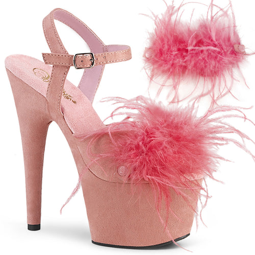 ADORE-709F Pleaser 7 Inch Heel Baby Pink Pole Dancing Shoes