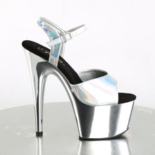 "Load image into Gallery viewer, ADORE-709HGCH 7"" Heel Silver Hologram Sexy Sandals"