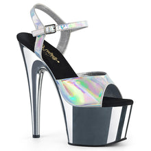 Load image into Gallery viewer, Sexy ADORE-709HGCH Pleaser Sexy Shoes 7 Inch Chrome Stiletto Heel Ankle Strap Platforms Sandals  Pleaser - Miss Hollywood - Sexy Shoes