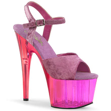 Load image into Gallery viewer, ADORE-709MCT Sexy Velvet Shoes 7 Inch Heel Tone Tinted Platforms Ankle Strap Sandals