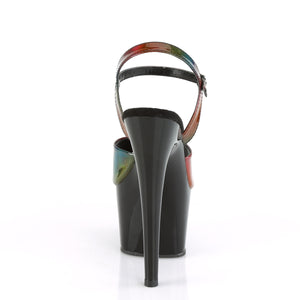 "ADORE-709RBDT 7"" Heel Rainbow Holo Pole Dancing Shoes"