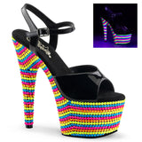 ADORE-709RBS Sexy Sandals Features Pleaser Shoes with Neon Beads - Miss Hollywood - 1